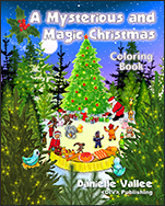 Book Cover A mysterious and magic Christmas - Coloring book